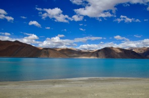 It is China to the right of Pangong Lake