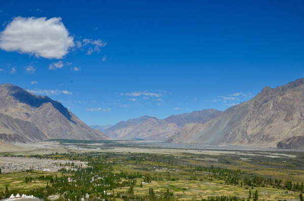 View of Nubra valley from the monastery