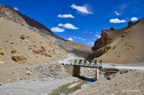 Beautiful bridge on Leh-Manali highway. All the bridges on the highways are steel made like this and can pass only one vehicle at a time.